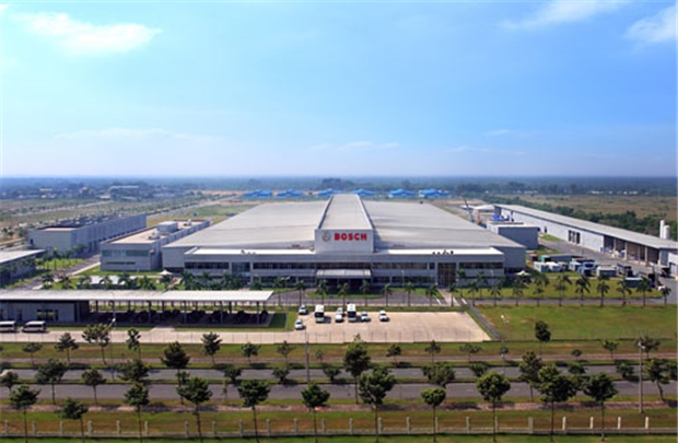 Nhà máy bề thế của Bosch ở Việt Nam.