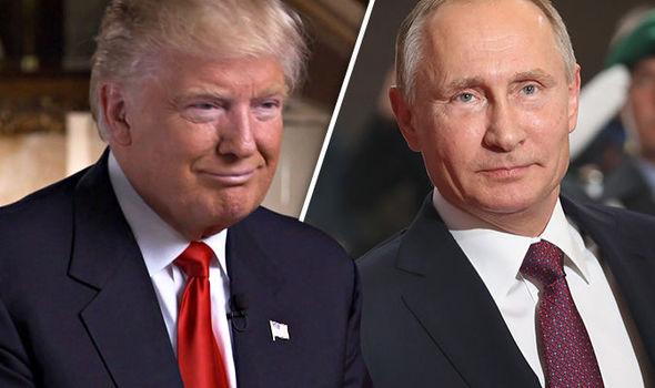 Thủ tướng Đức không hề khuất phục trước những biểu tượng sức mạnh như tổng thống Mỹ Donald Trump (trái) hay tổng thống Nga Vladimir Putin (phải)