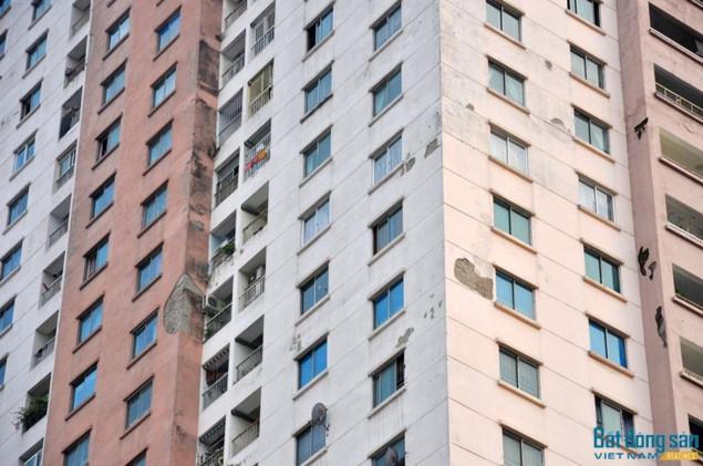 Chất lượng chung cư Sông Đà Urban Tower đã xuống cấp, tiềm ẩn nhiều nguy hiểm.