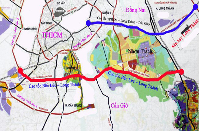 Các trục đường kết nối Long An - Sài Gòn đang dần hình thành.