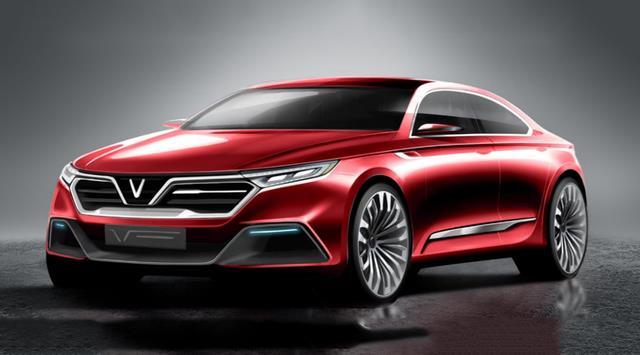 IDG SEDAN 03 – mẫu xe của Italdesign được ông Hải đánh giá cao và cũng là mẫu xe có lượt bình chọn cao nhất trên trang bình chọn của VINFAST