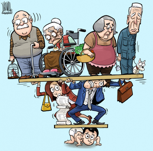 Hệ quả của chính sách một con đang tác động lên xã hội Trung Quốc. Tranh minh họa.