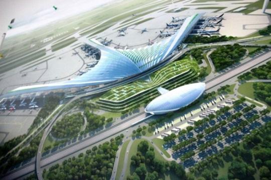 Một trong ba phương án thiết kế nhà ga hành khách sân bay quốc tế Long Thành cùng được trao giải nhất