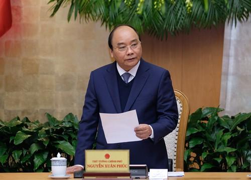 Thời gian tới, Thủ tướng yêu cầu tiếp tục tập trung thực hiện Nghị quyết của Trung ương, Quốc hội, Nghị quyết 27 của Chính phủ. Ảnh: VGP/Quang Hiếu
