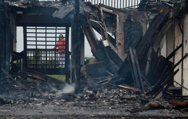 Một căn nhà bị hư hỏng hoàn toàn khác.