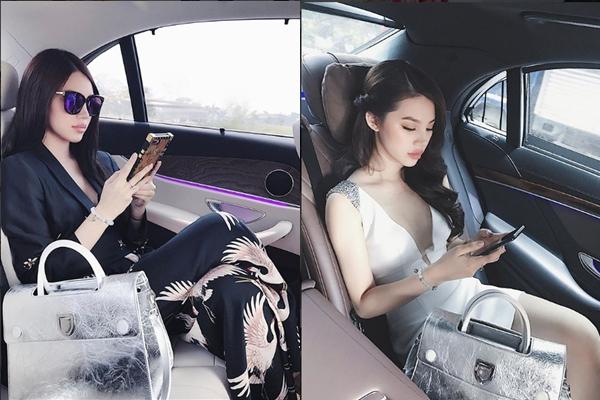 Vẻ lạnh lùng sang chảnh của Jolie trên những chiếc siêu xe.
