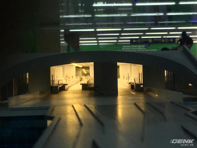 Mô hình tầng 3 ga La Khê sau khi hoàn thiện.