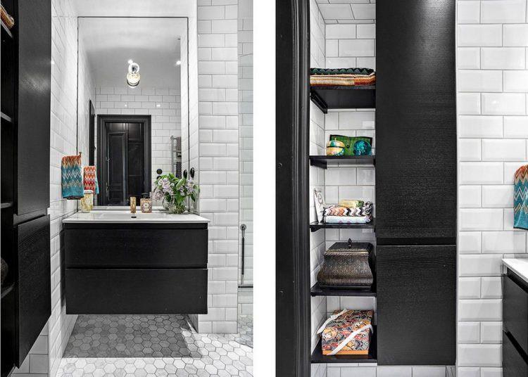 Góc nhỏ này cũng được tận dụng tối đa với chiếc tủ nhiều ngăn thỏa mãn nhu cầu trữ đồ và một chiếc giương lớn nhân đôi diện tích không gian.