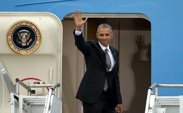 Tổng thống Obama bay đến Chicago để đọc diễn văn chia tay trên chuyên cơ Air Force One vào ngày 10/1. Ảnh: Getty.