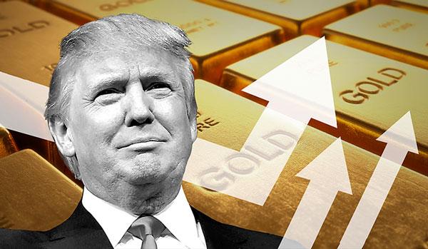 Các chính sách của ông Donald Trump có thể khiến vàng tăng.
