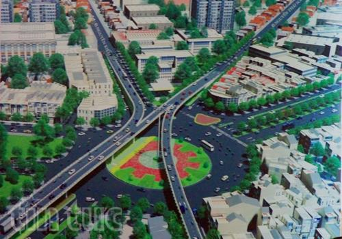 Phối cảnh dự án giao thông xây dựng cầu vượt tại vòng xoay Nguyễn Kiệm - Nguyễn Thái Sơn.