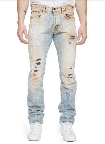 Quần jeans rách với những vết bẩn giả này có giá lên tới gần chục triệu đồng/chiếc.