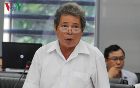 Cử tri thành phố Đà Nẵng phát biểu ý kiến tại chương trình HĐND với cử tri