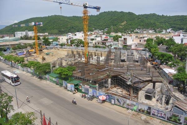 Toàn cảnh tiến độ dự án nhà ở xã hội P.H Center Nha Trang.