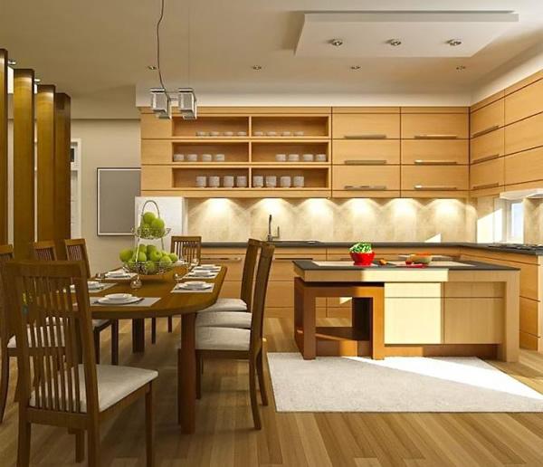 Có rất nhiều loại sàn gỗ dành riêng cho khu vực bếp ăn để người sử dụng lựa chọn.