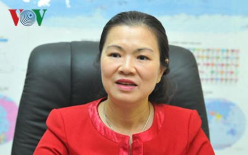 Bà Trương Thị Ngọc Ánh, Phó Chủ tịch Ủy ban TƯMTTQ Việt Nam
