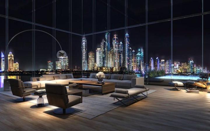 Căn hộ này có tầm nhìn tuyệt vời và độc đáo ra Dubai Marina và Vịnh Ả Rập.