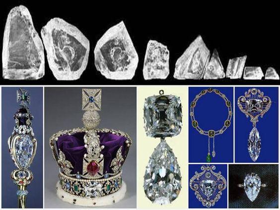 9 miếng kim cương được dùng trong bộ trang sức của hoàng gia Anh.