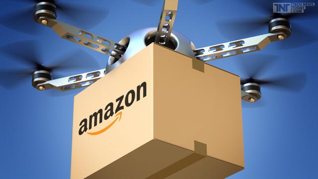 Amazon đã dùng drone làm phương tiện giao hàng.