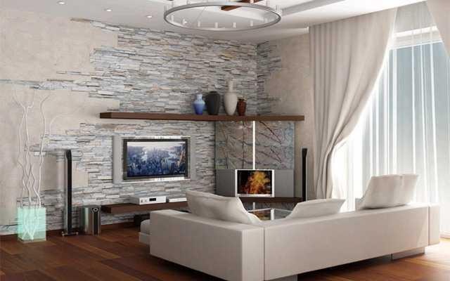 Những ngôi nhà sẽ trở nên đẹp và sang trọng hơn nhờ vào việc sử dụng đá ốp tường để trang trí.