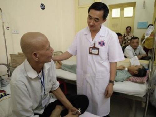 Bệnh nhân ung thư điều trị tại BV K Trung ương.