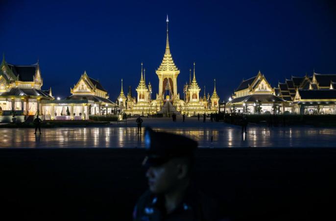 Địa điểm tổ chức đám tang cố vương Adulyadej. Ảnh: REUTERS