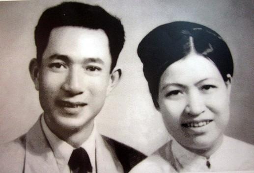 Vợ chồng cụ Hoàng Thị Minh Hồ. Ảnh tư liệu.