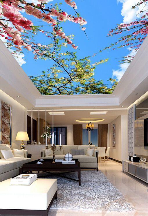 Với ưu điểm tạo chiều sâu, có thể biến không gian chật trở nên rộng thoáng, trần nhà 3D đặc biệt thích hợp với những không gian nhỏ hoặc những căn hộ chung cư.