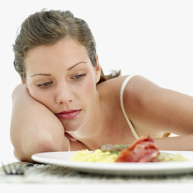 Bệnh nhân có thể bỗng dưng cảm thấy chán ăn mặc dù bình thường họ ăn rất ngon miệng