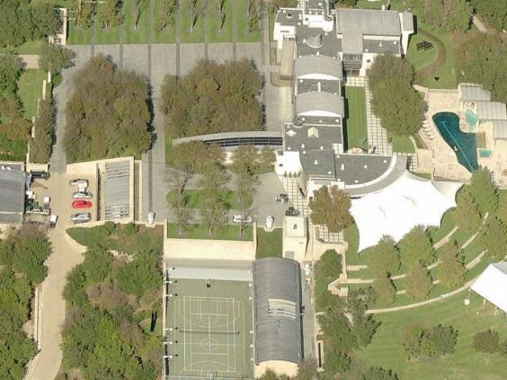 Ảnh chụp The Castle từ trên cao (Nguồn: Bing Map).