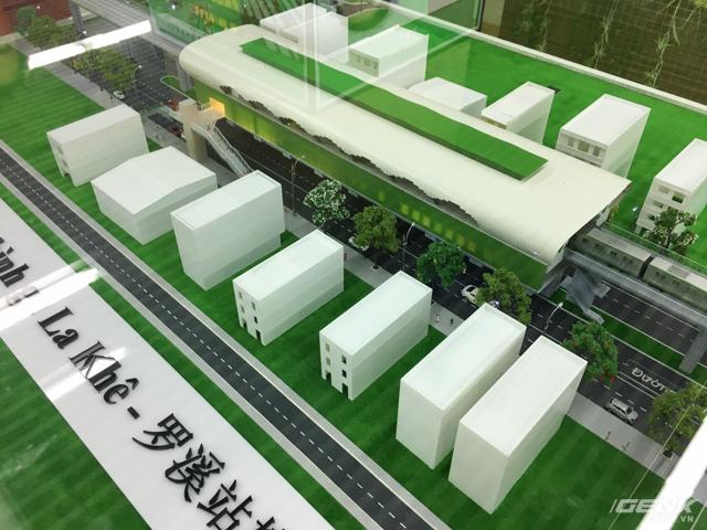 Nếu hoàn thành đúng như mô hình thiết kế, ga La Khê sẽ đóng góp cho vẻ đẹp rất metro của Hà Nội.