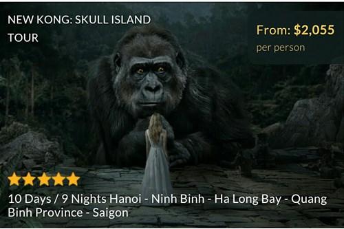 """Các """"ông lớn"""" lữ hành trên thế giới đang giành giật thị thường béo bở mang tên """"Kong: Skull Island""""."""