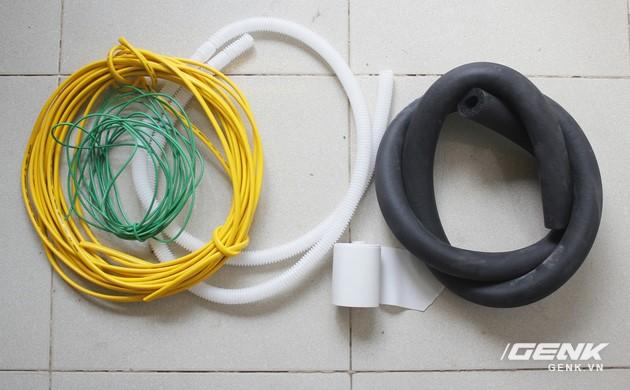 Dây điện, ống nước thải, Gen và vải bảo ôn
