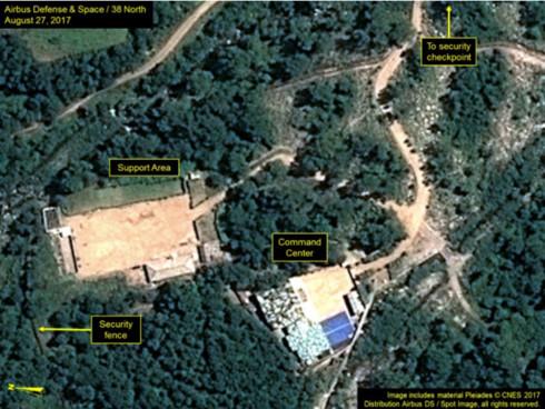 Trung tâm chỉ huy (Command Center) và khu vực hỗ trợ (support area) được cho là không làm việc. (Ảnh: 38 North)
