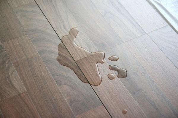 Thấm, dột trong mua mưa rất dễ làm sàn gỗ bong tróc.