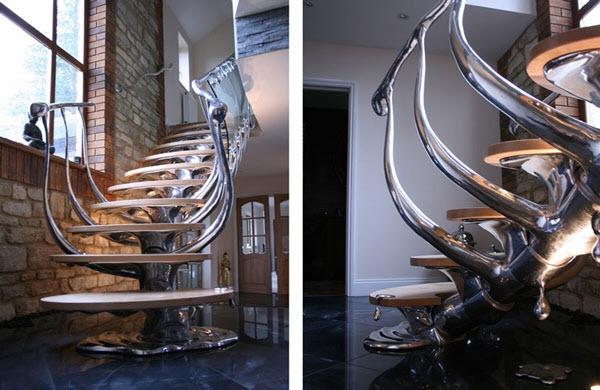 Căn nhà của bạn sẽ mang lại sự hoang dã với kết cấu cầu thang kiểu khung xương của một loài động vật này.