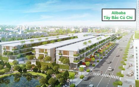 Phối cảnh nhà phố khu dân cư của Công ty CP Alibaba Tây Bắc.