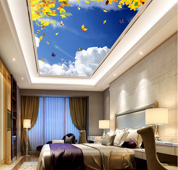 Phòng ngủ sáng bừng với gam màu dịu mát của bầu trời thiên nhiên.