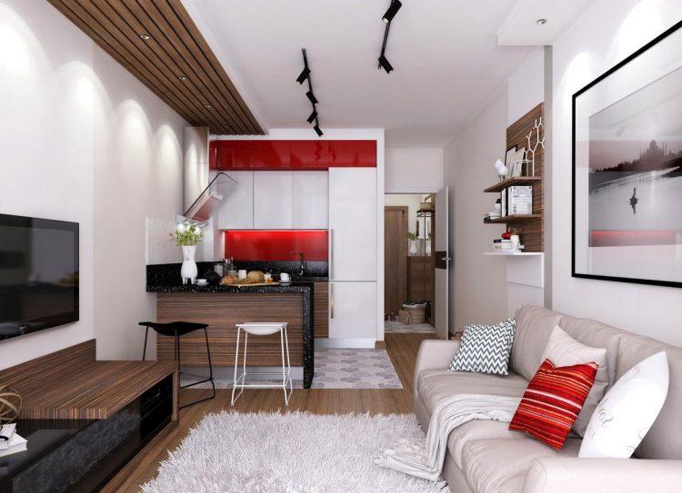 Khu vực bếp và phòng khách được thiết kế mở mang lại cảm giác rộng thoáng cho không gian.
