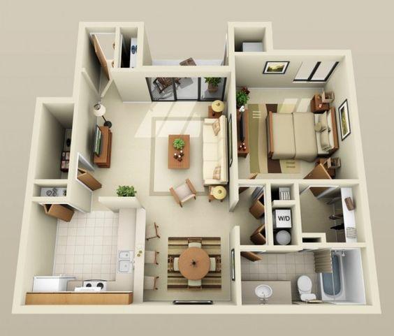 Nội thất hiện đại kết hợp với tông màu sáng khiến căn hộ trở nên thông thoáng.