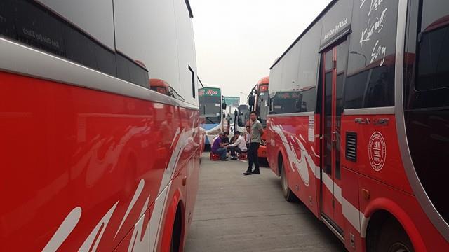 70 xe các tuyến từ Thái Bình, Nam Định lên Hà Nội đã từ chối vận chuyển khách sáng nay