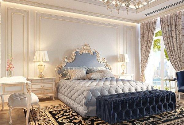 Phòng ngủ theo phong cách hoàng gia.