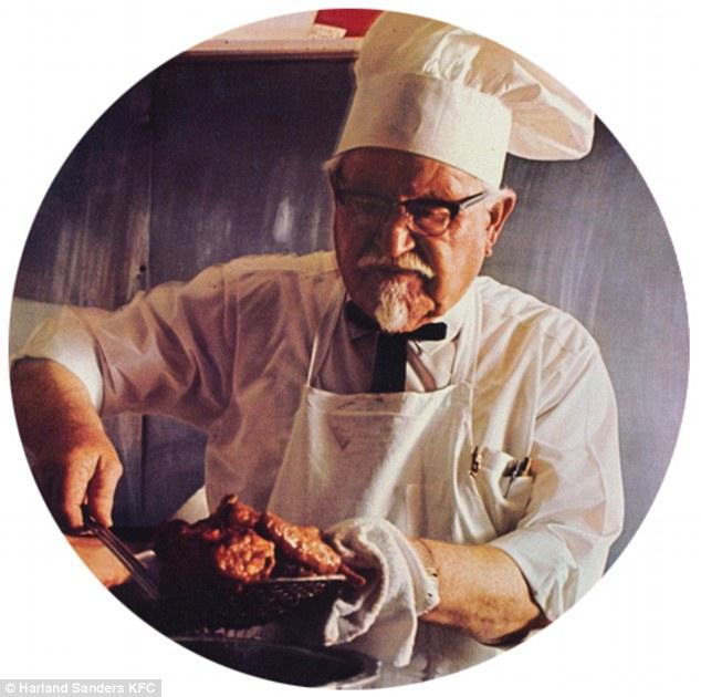 Sanders trong quảng cáo những ngày đầu của KFC