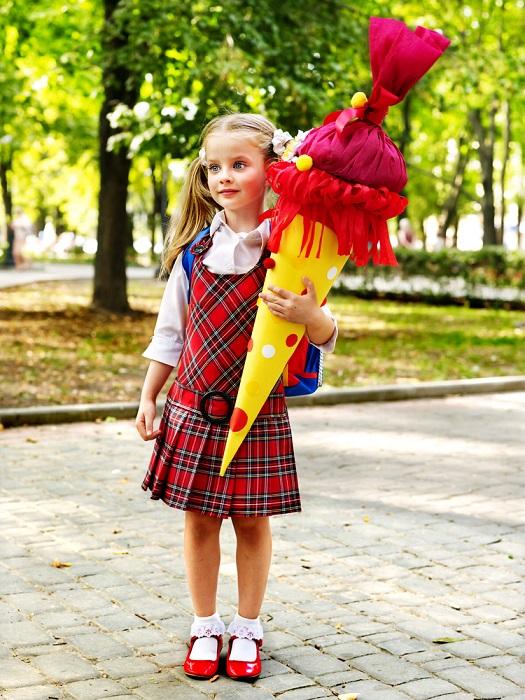 Schultüten truyền thống của học sinh Đức trong ngày đầu tiên của năm học mới.