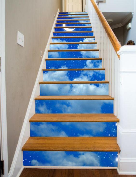 Không chỉ là những bức tranh thiên nhiên, phong cảnh, cả bầu trời đầy sao cũng sẽ được hiển hiện ngay trong nhà bạn.