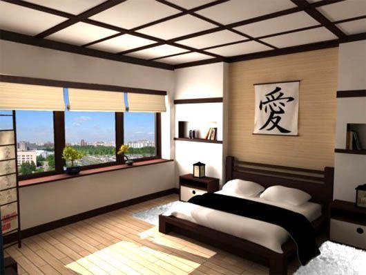 Thay vì những bức tranh trong phòng ngủ như Việt Nam, người Nhật thường chọn một khung tranh có màu sắc cổ điển với một từ thật ý nghĩa cho người sử dụng. (Ảnh Pinterest).