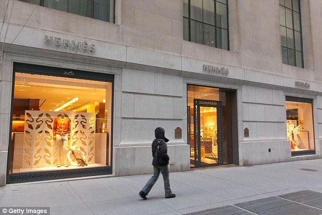 Một cửa hàng Hermes - thương hiệu túi nổi tiếng trên thế giới.