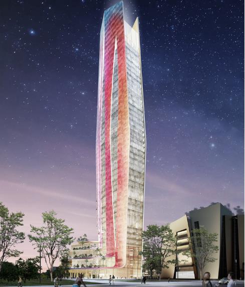 Với chiều cao 244m, tòa tháp sẽ cao hơn cả tòa Intelligence Operation Center ở Đài Trung, Đài Loan hiện nay.