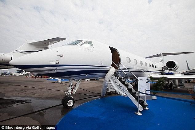 Tỷ phú Vương Kiện Lâm còn sở hữu một chiếc máy bayGulfstream G550, cùng loại với chiếc của Jack Ma. Ảnh: Getty.
