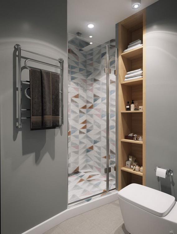 Tủ âm tường cũng được dùng để tiết kiệm tối đa diện tích.